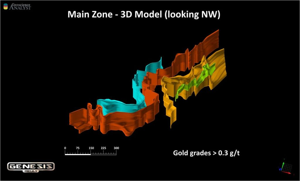 3d Model of Chevrier Deposit