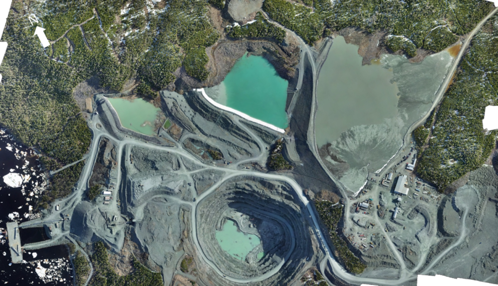 Aerial Map of Pine Cove Mill and Mine