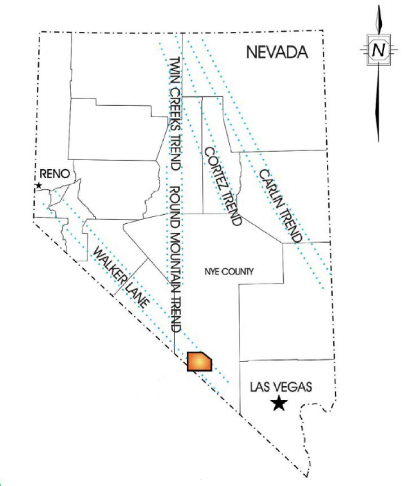 Nevada Map - Sterling Gold Project