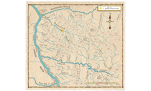 Historic Dawson City Map